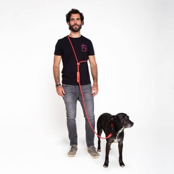 Zee.Dog Neon Coral // Trela Handsfree